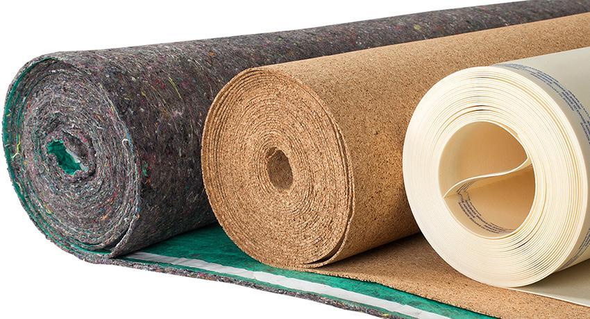 натуральные подложки на бетонный пол