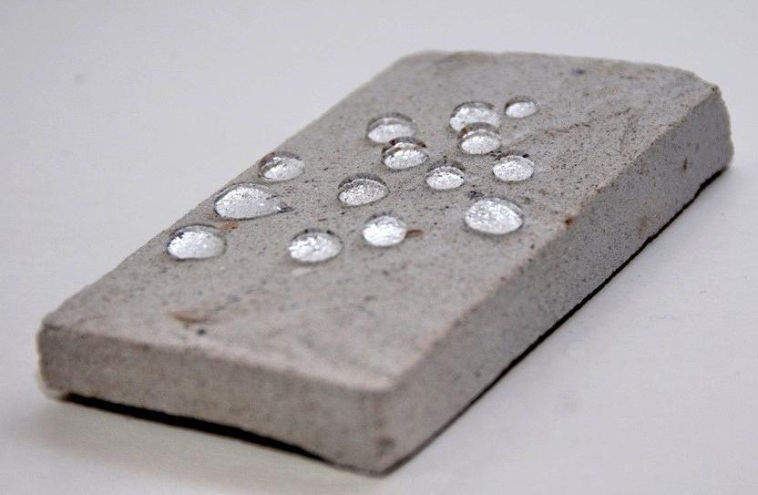 образец бетона покрытый гидрофобизатором