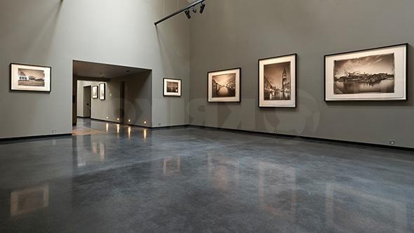 оригинально полированный бетон в галерее