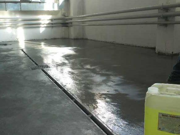 покрытие бетона обеспыливающей пропиткой