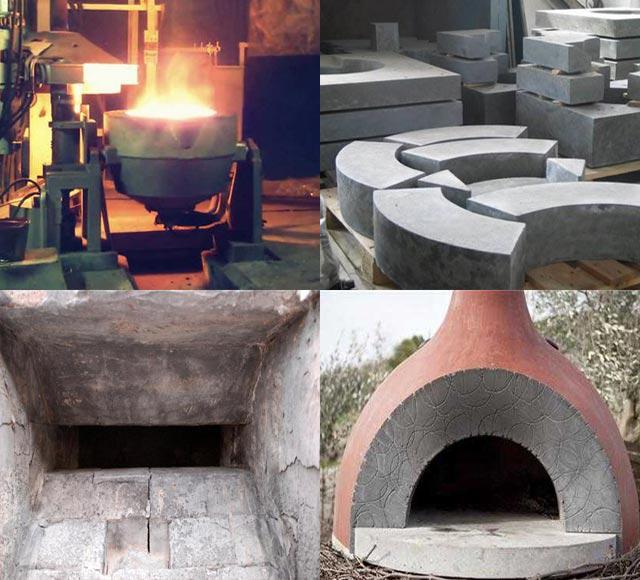 применение жаропрочного бетона