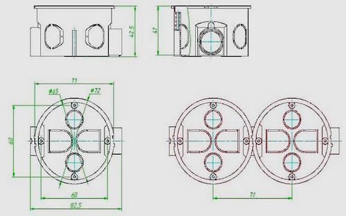 размер подрозетников для бетона