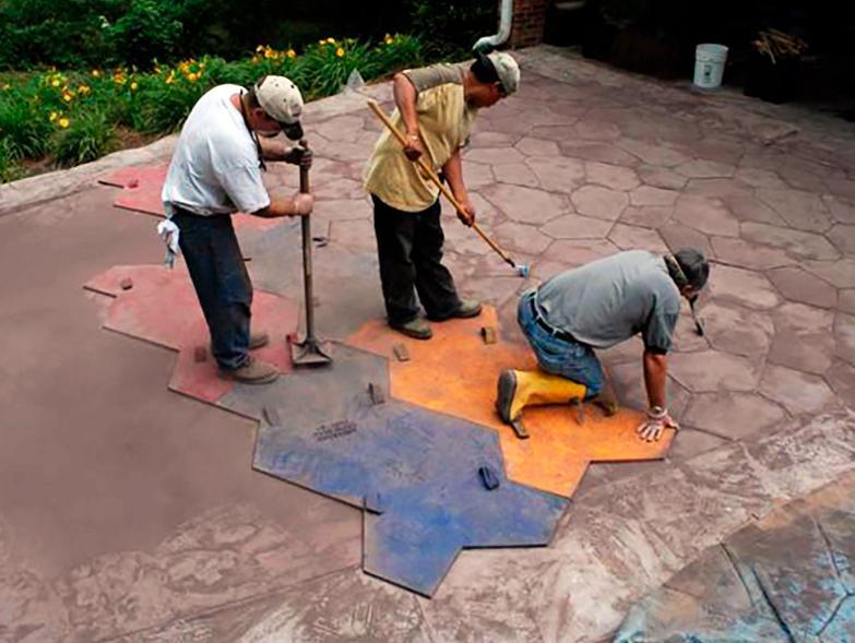 штампование печатного бетона