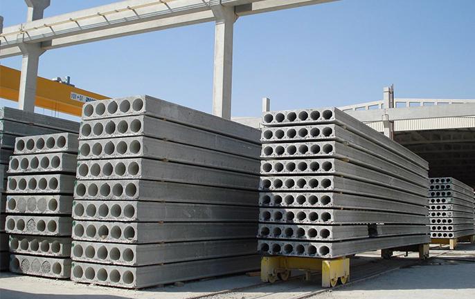 складирование многопустотных плит