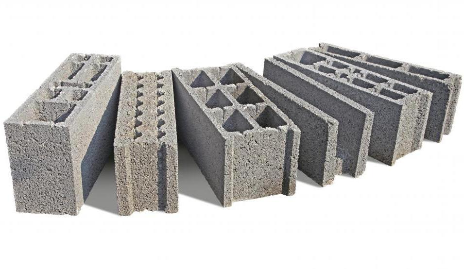 типы пескоцементных блоков