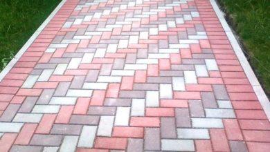 узор тротуарной плитки елочка