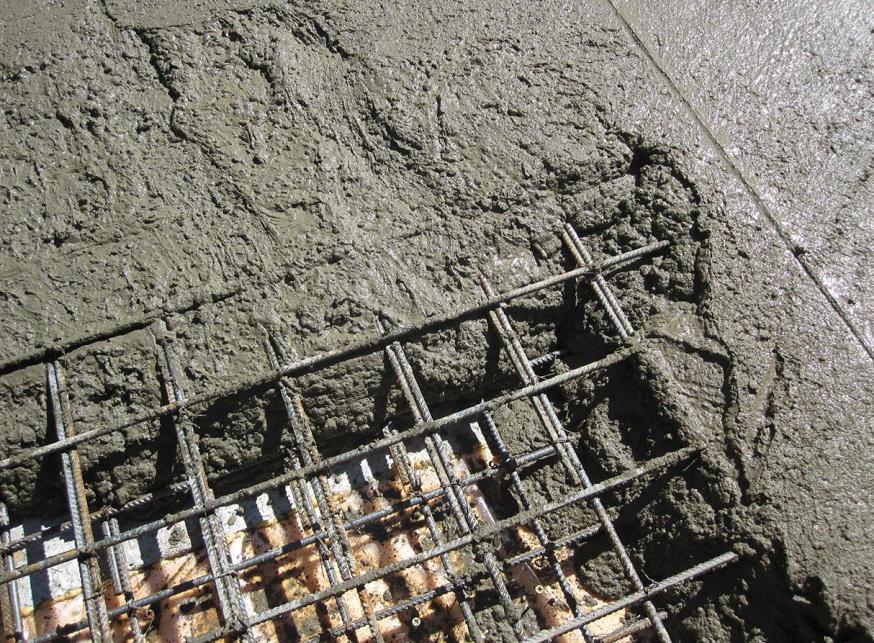 заливка бетоном арматуры
