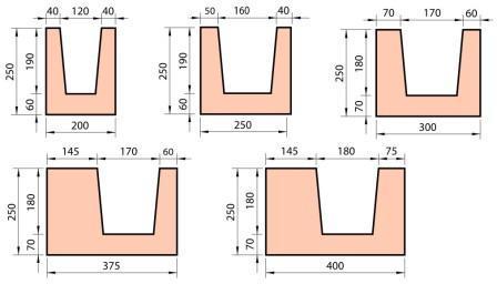 Газобетонные блоки U-образные