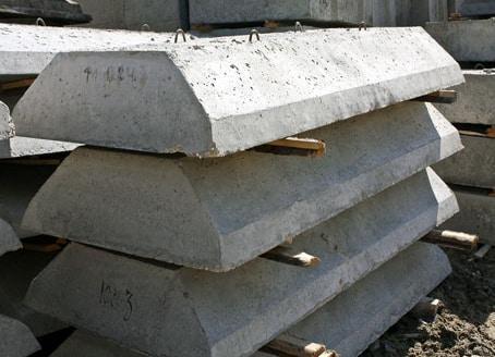 бетонные блоки для песчаной подушки