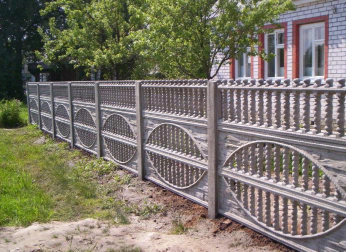 бетонный забор до окраски