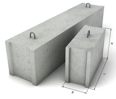 фундаментные блоки для сборки основания