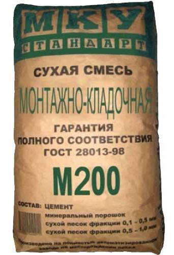 где используется цемент М200