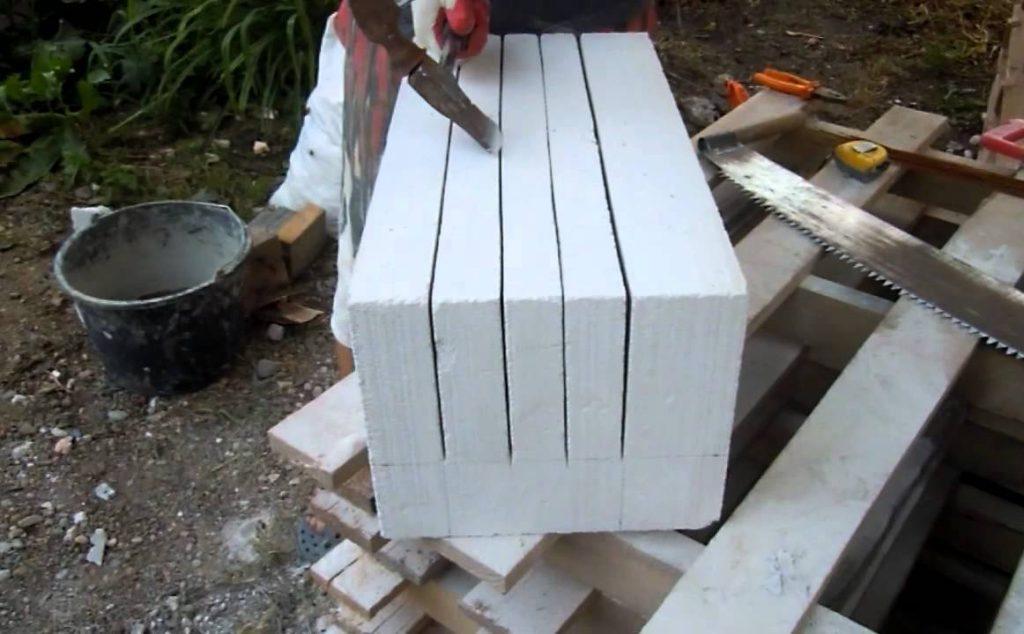 как сделать u-образный блок из газобетона своими руками