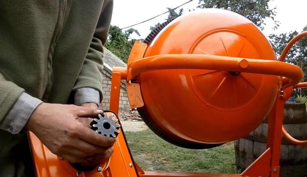 как выполнить ремонт бетономешалки