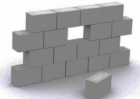 кладка из стандартных пенобетонных блоков