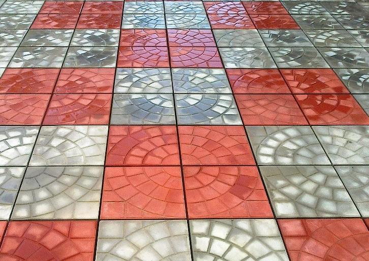 квадратная тротуарная плитка размеры