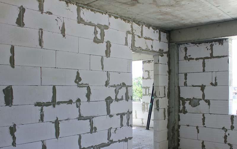 несущие стены из газоблока