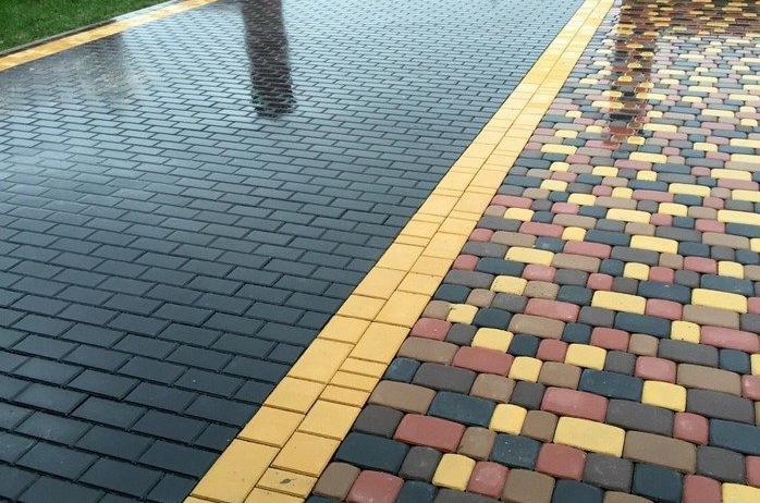 оригинальный узор укладки тротуарной плитки кирпич