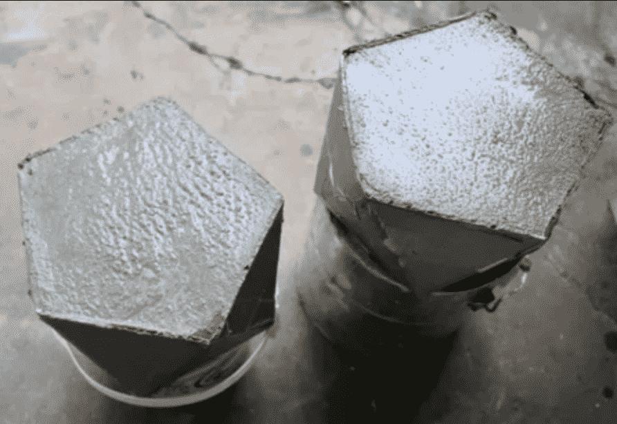 Сколько бетон сделать цементный раствор цветным