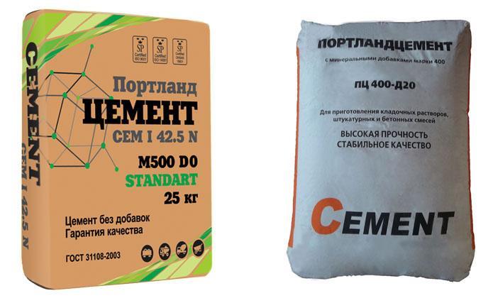 отличия цемента Д0 и Д20