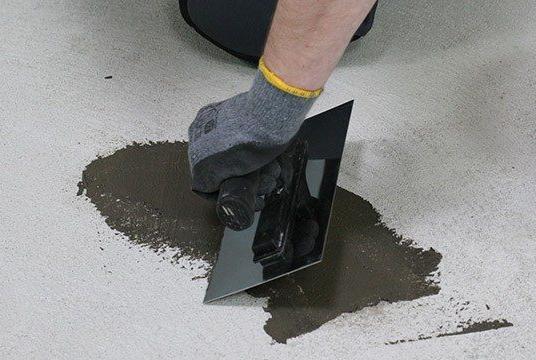 правильная заделка трещин в бетонном полу