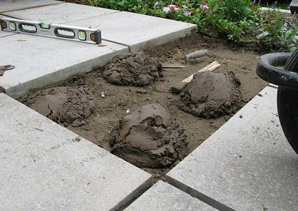 приготовление раствора под тротуарную плитку