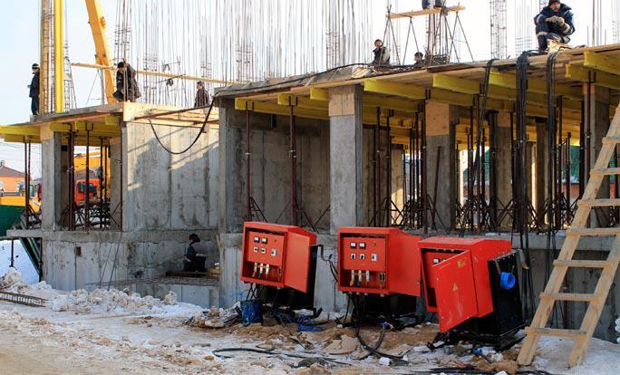 применение трансформаторов для прогрева бетона
