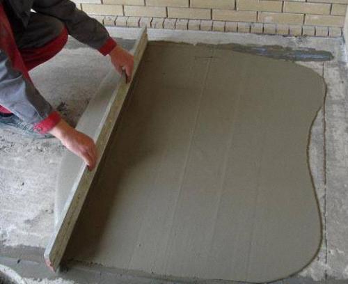работа с ремонтной смесью по бетону