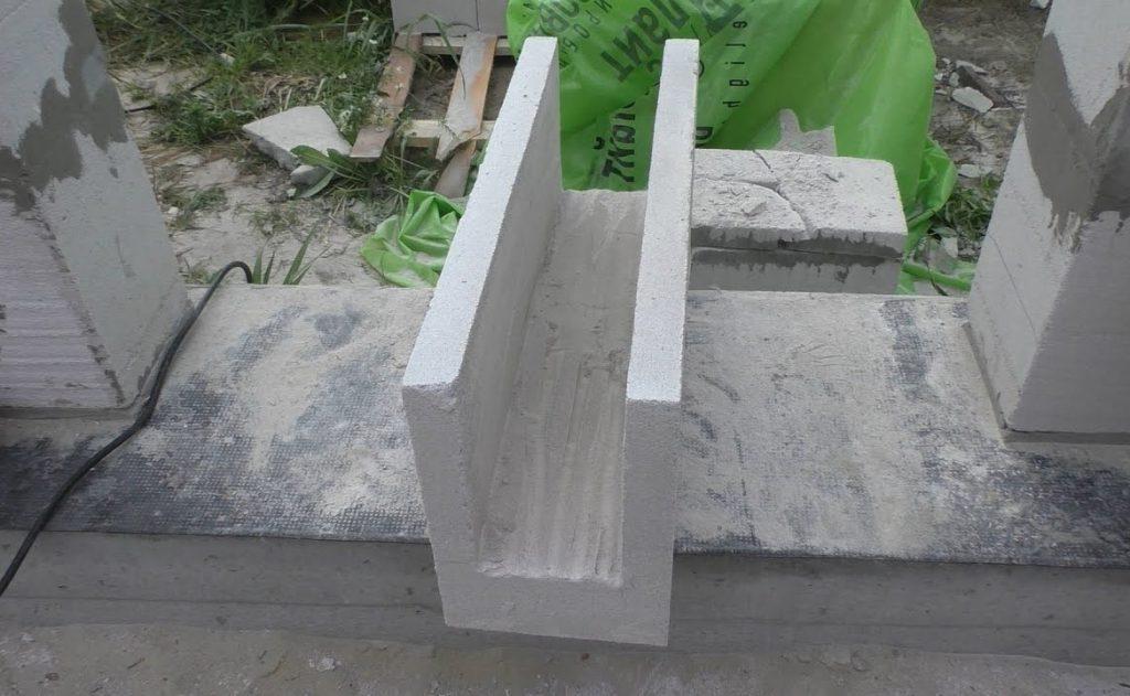 размеры U-образных блоков из газобетона
