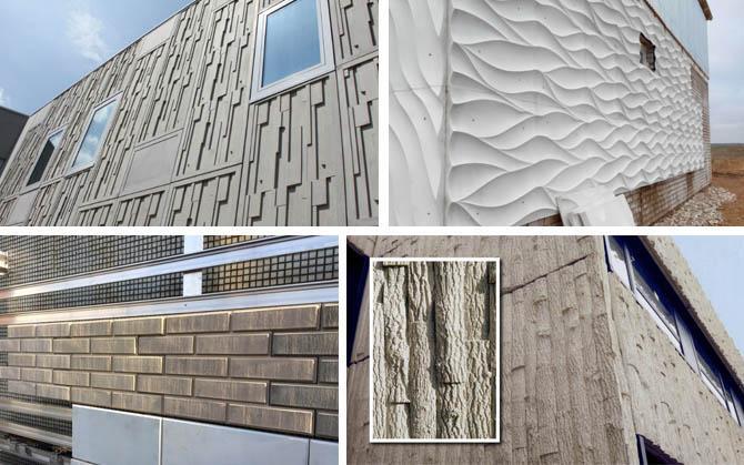 разнообразие стеклофибробетона для фасадов