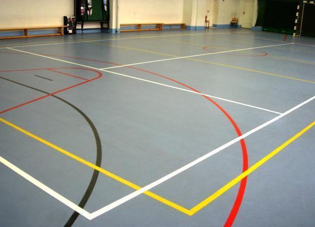 резиновая краска для бетона в спортзале
