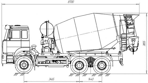схема камаза для доставки бетонной смеси
