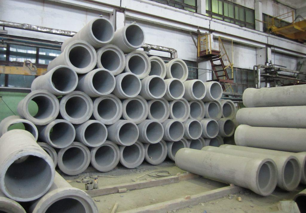 складирование безнапорных раструбных труб