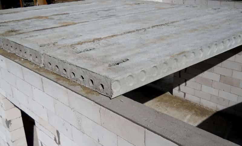 смонтированные плиты перекрытия