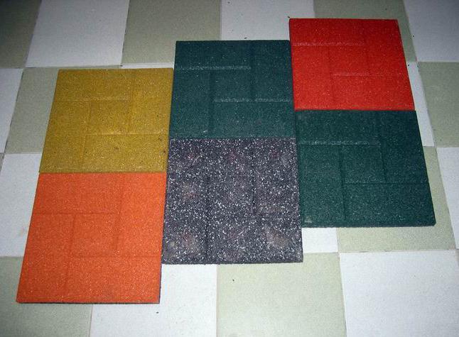 технические характеристики тротуарной резиновой плитки