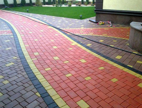 тротуарная плитки брусчатка типа брук
