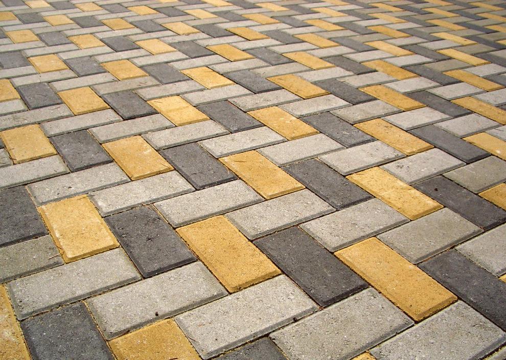 вариант укладки тротуарной плитки кирпичик