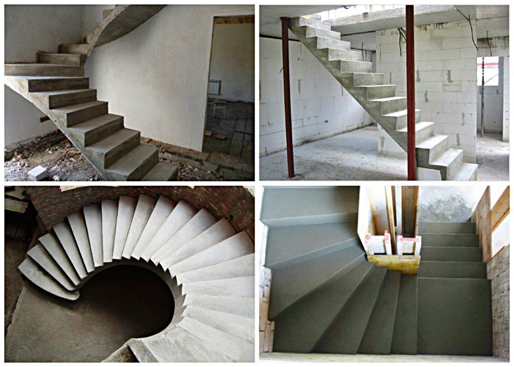 виды бетонных лестниц