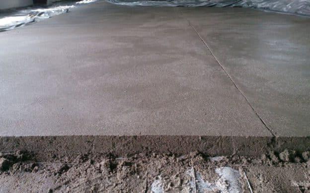 высыхание свежезалитого бетона