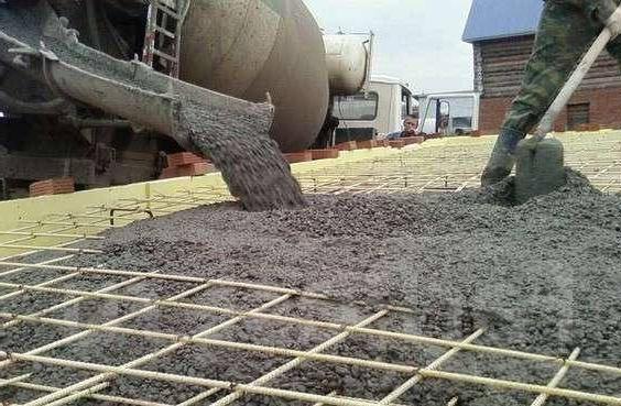 заливка товарного бетона