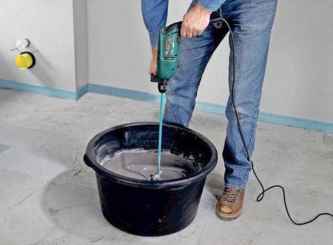 замес раствора цементного