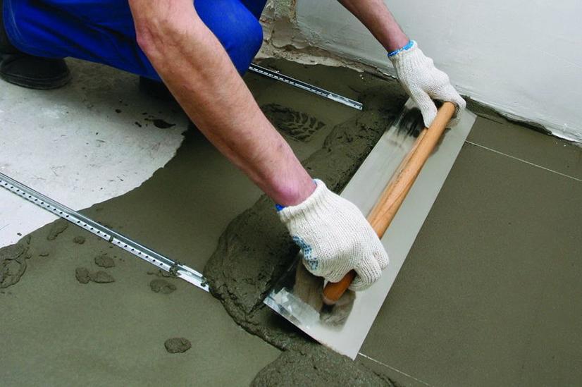 бетонная стяжки под линолеум