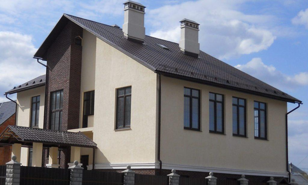 дом, построенный из газобетона