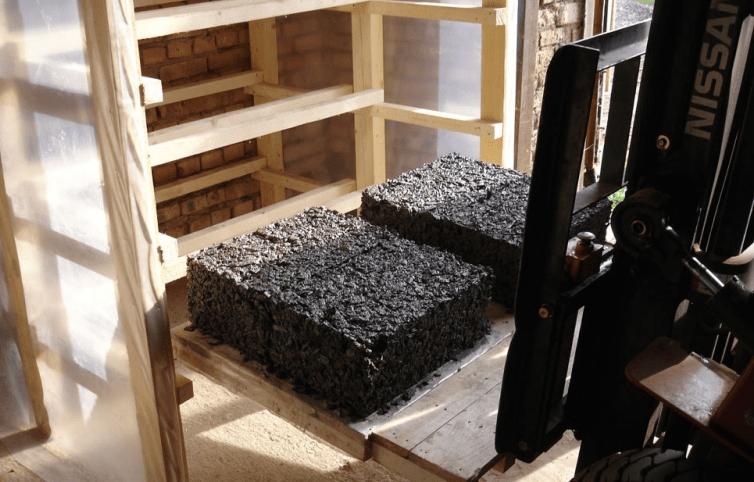 формовка арболитовых блоков для дома