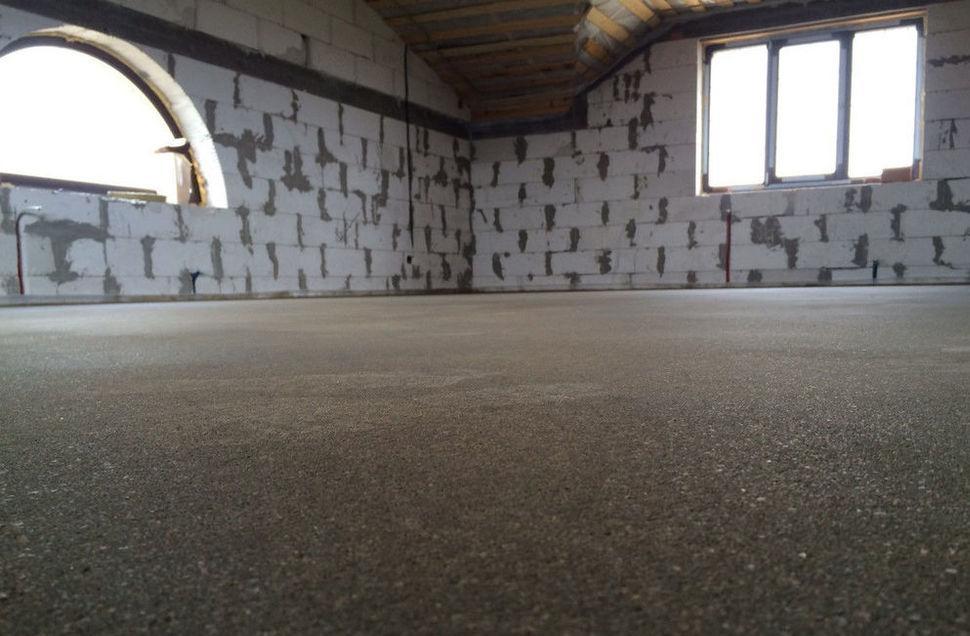 готовая стяжка из цемента и песка