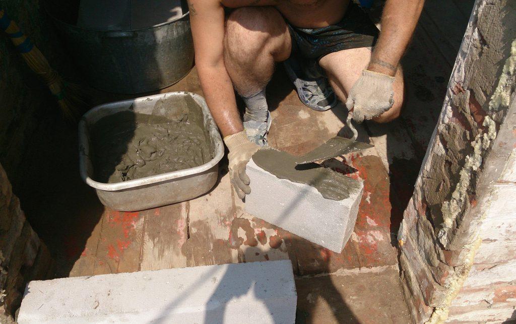 использование цементно-песчаного раствора