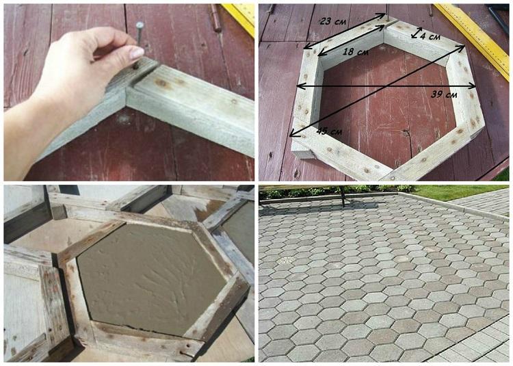 изготовление деревянной формы для тротуарной плитки