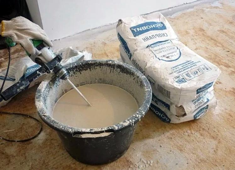 наливной пол на цементной основе как готовить