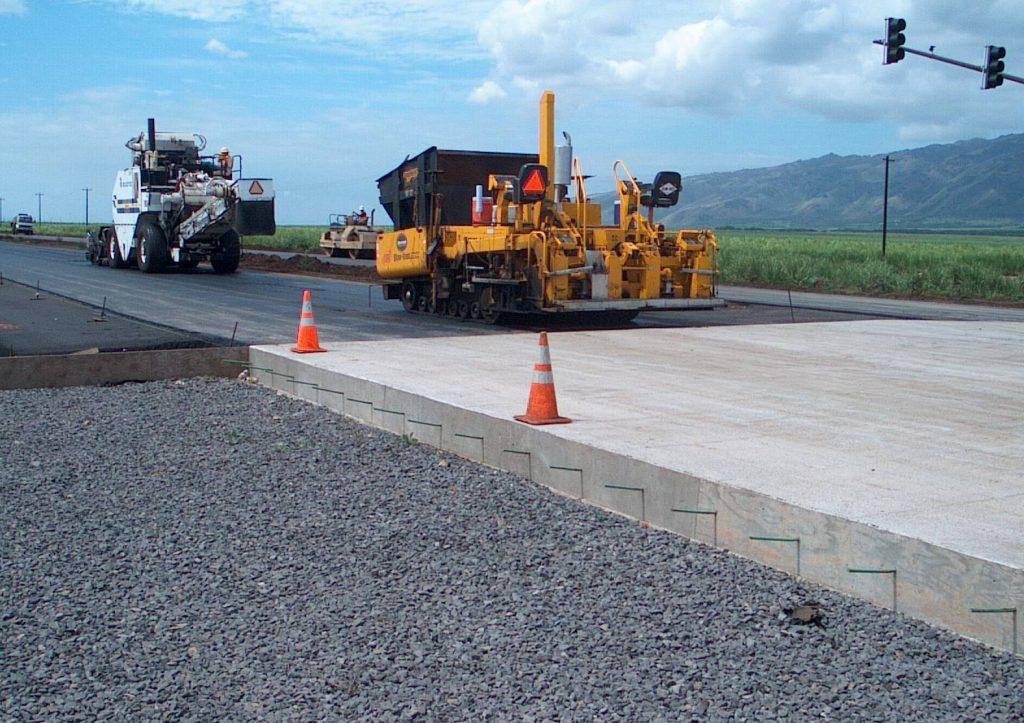 обустройство бетонной дороги