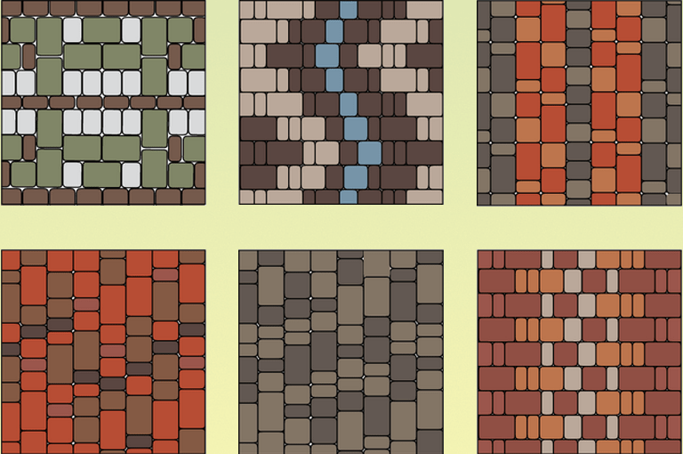 оригинальные варианты укладки тротуарной плитки
